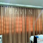 Gorden minimalis warna coklat
